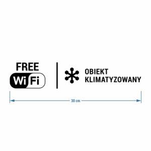 Naklejka: Free Wi-Fi oraz Obiekt Klimatyzowany