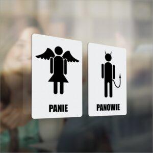 Toaleta Damska. Toaleta Męska. Naklejka. Panie. Panowie.