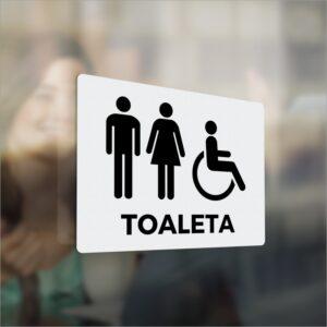 Toaleta Damska. Toaleta Męska. Naklejka.
