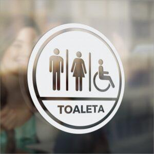 Oznaczenie toalety. Osoby niepełnosprawne.