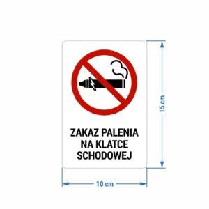 Naklejka - Zakaz Palenia na Klatce Schodowej
