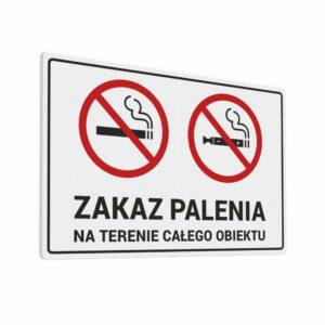 Naklejka Zakaz Palenia Na Terenie Całego Obiektu